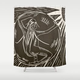 Space inside Space Shower Curtain