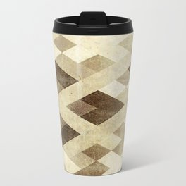 Abstract Pattern in Brown Travel Mug
