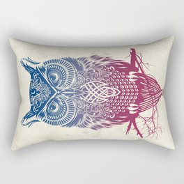 Evening Warrior Owl Rectangular Pillow