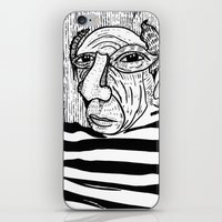 pablo picasso iPhone & iPod Skins featuring Pablo Picasso by Benson Koo