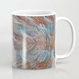 Vortex blue geometry V Coffee Mug