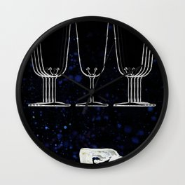 A Tarot of Ink 09 of Cups Wall Clock
