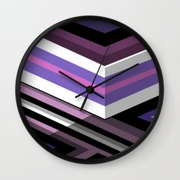 Abstract Lined Purple Wall Clock