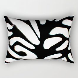 winter tree black and white abstract painting Rectangular Pillow