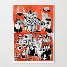YOU GIMME THE CREEPS Canvas Print