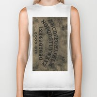 ouija Biker Tanks featuring Ouija by Andrea Raths
