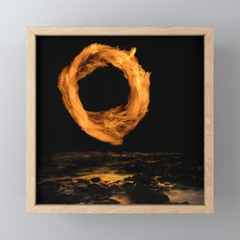 Ring of Fire Above the Beach at Midnight Framed Mini Art Print