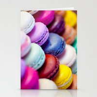 macaron Stationery Cards featuring Macaron by Electric Avenue
