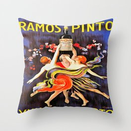 Vintage poster - Ramos Pinto Throw Pillow