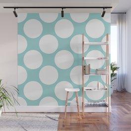 Polka Dots Blue Wall Mural