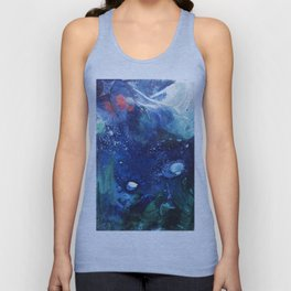 Bright Ocean Life, Tiny World Collection Unisex Tank Top