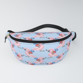 Pink Beauty Parrot Fanny Pack