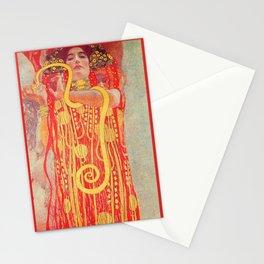 Gustav Klimt - Greek Goddess of Medicine Hygeia Stationery Cards