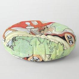 Little Nemo's moonlight ride Floor Pillow
