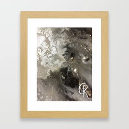 Winter Abstract Painting, Mixed Media On Canvas, Close Up Photograph, Abstract Artwork Contemporary Framed Art Print