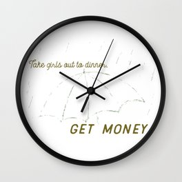 Dinner and Money Wall Clock