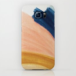 Slow as the Mississippi - Acrylic abstract with pink, blue, and brown iPhone Case