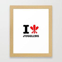 I Love Juggling Framed Art Print