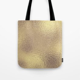 Simply Metallic in Antique Gold Tote Bag