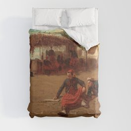 Winslow Homer1 - Pitching Quoits - Digital Remastered Edition Comforters