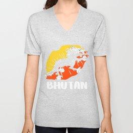 BTN Bhutan Kiss Lips T Shirt Unisex V-Neck