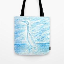 Egret, Treasure Island Tote Bag