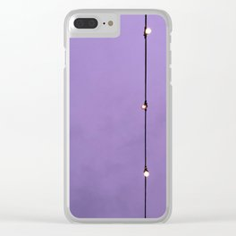 Purple Sky Clear iPhone Case