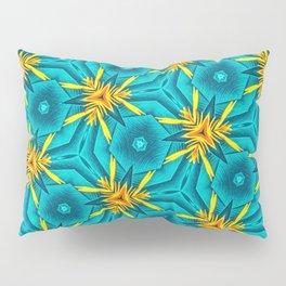 Birds of Paradise Floral Pattern \\ Unique Tropical Vibes \\ Green Yellow Blue Orange Color Scheme Pillow Sham