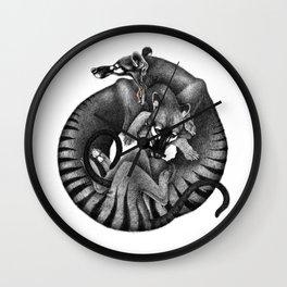 Thylacines Wall Clock
