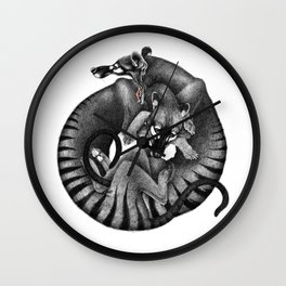Thylacines Wall Clock