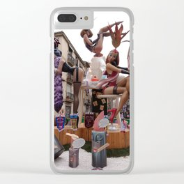Fallas is an UNESCO world heritage Valencia, Spain Clear iPhone Case