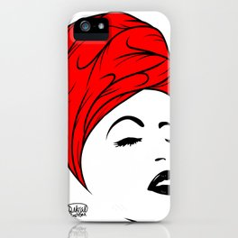 Lady Wrap (red) iPhone Case