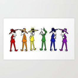 Rainbow Spy Party Art Print