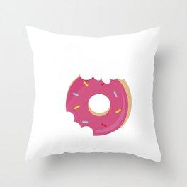 Cute & Funny Donut Grow Up Pun Do Not Grow Up Joke Throw Pillow