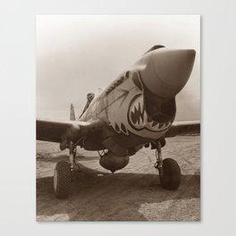 P-40 Warhawk - World War 2 Canvas Print