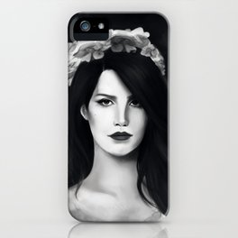 Dark Paradise (B&W) iPhone Case