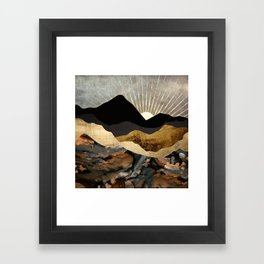 Copper and Gold Mountains Framed Art Print