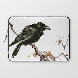 Raven, Raven art, Raven Design, Crow painting Laptop Sleeve
