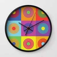 deadmau5 Wall Clocks featuring Vinyl Pop Art by Sitchko Igor