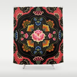 Folkloric Floral Shower Curtain