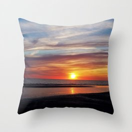 Autumn sun Throw Pillow