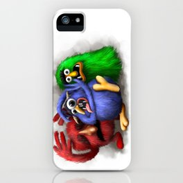 Scared Monsters iPhone Case