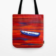 Little blue boat Tote Bag
