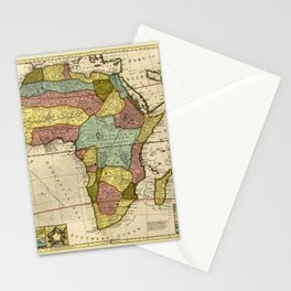 Map Of Africa 1710 Stationery Cards