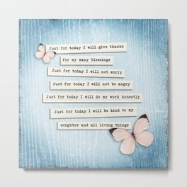 Reiki Principles No.1 Metal Print