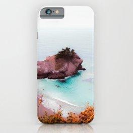 Ocean view at Mcway Falls, Big Sur, Highway 1, California, USA iPhone Case