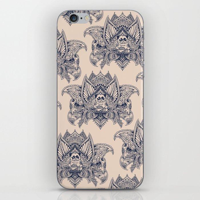 Lotus Mandala Pug iPhone Skin