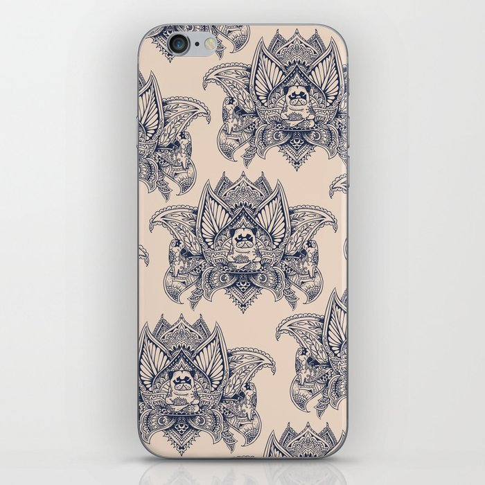 Lotus Mandala Pug iPhone Skin