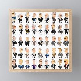 45 Presidents of the U.S.A. Framed Mini Art Print