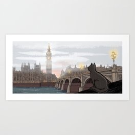 London Fog Art Print